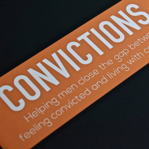 Convictions For Men Book Side