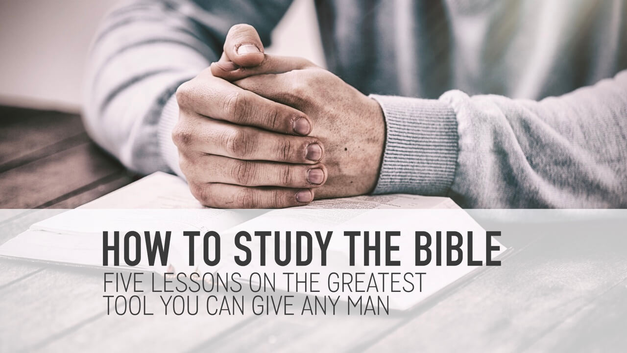 How To Study The Bible For Men Slide