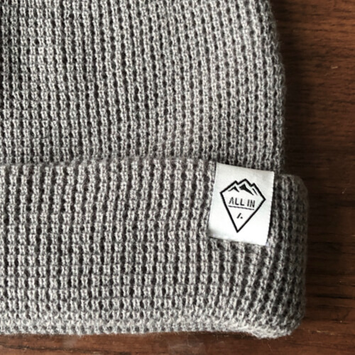 All In Cuffed Beanie - Gray Logo by Vince Miller