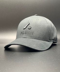All In Hats Black Embroidered Slight Curved Visor by Vince Miller Home 2