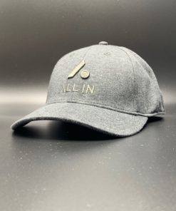 All In Hats Grey Heather Embroidered Slight Curved Visor by Vince Miller Home