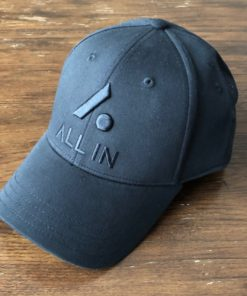 All In Stretch Fit Hat - Front Angle Black by Vince Miller