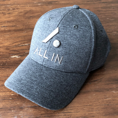 All In Stretch Fit Hat - Front Angle Gray by Vince Miller