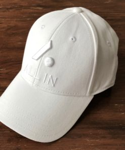All In Stretch Fit Hat - Front Angle White by Vince Miller