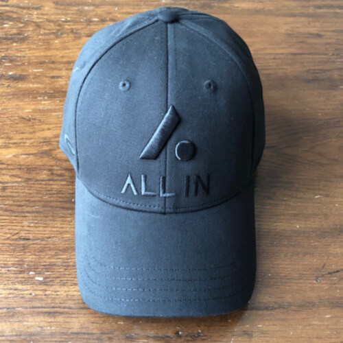 All In Stretch Fit Hat - Front Black by Vince Miller