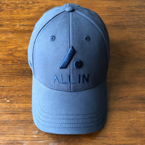 All In Stretch Fit Hat - Front Navy by Vince Miller