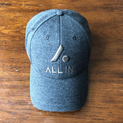 All In Stretch Fit Hat - Top Gray by Vince Miller
