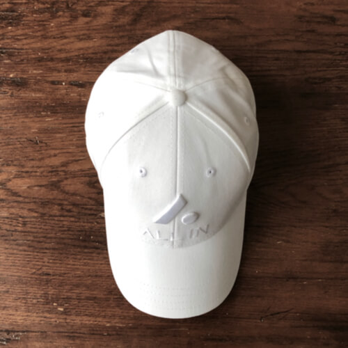 All In Stretch Fit Hat - Top White by Vince Miller
