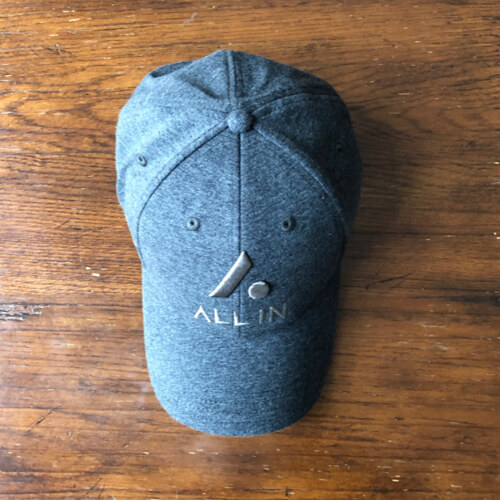 All In Stretch Fit Hat - Top2 Gray by Vince Miller