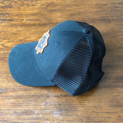 All In Trucker Mesh Hat - Side Black by Vince Miller