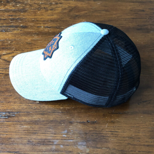 All In Trucker Mesh Hat - Side Gray by Vince Miller