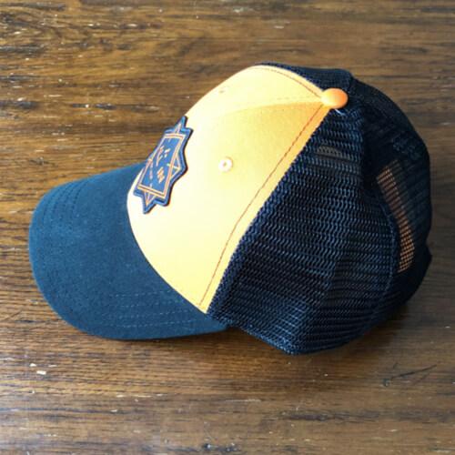 All In Trucker Mesh Hat - Side Orange by Vince Miller