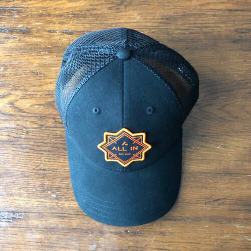 All In Trucker Mesh Hat - Top Black by Vince Miller