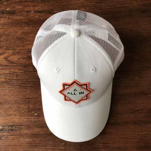 All In Trucker Mesh Hat - White Top by Vince Miller