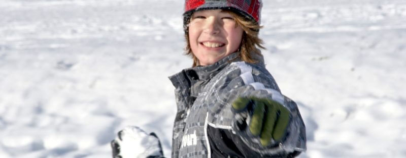 Snowball Fight Boy Speaks Up a daily devotional by Vince Miller