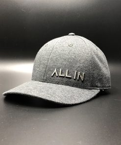 All In Dress Hat Black Oxford Chamb Front Angle by Vince Miller