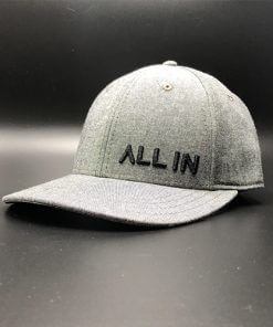 All In Dress Hat Char Heather Jersey Front Angle by Vince Miller