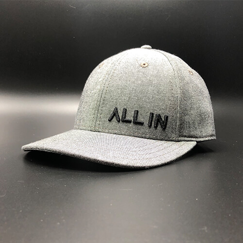 """All In"" Dress Hat – Charcoal Heather Jersey"