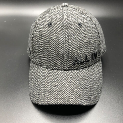 All In Hats Black Herringbone by Vince Miller Front 2