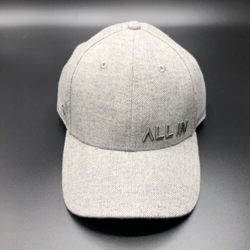 All In Hats Grey Herringbone by Vince Miller Front 2