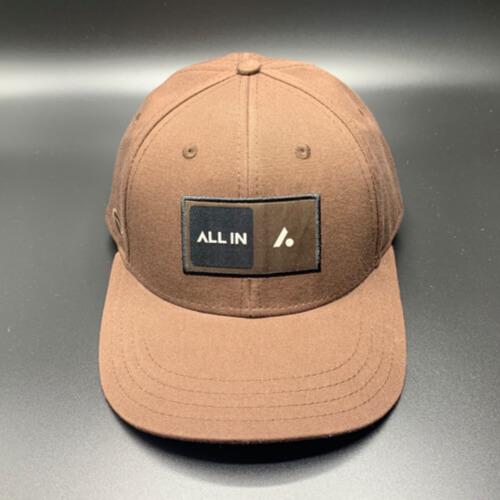 All In Skater Flat Visor Brown by Vince Miller Front