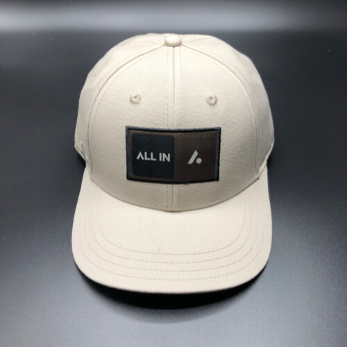 All In Skater Flat Visor Stone by Vince Miller Front 2