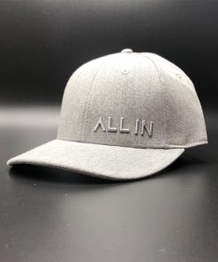 All In Dress Hat Grey Heather Front Angle by Vince Miller