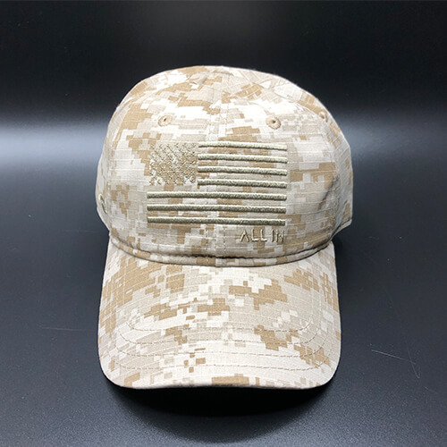 All In Flag Hat Desert Camo Front by Vince Miller