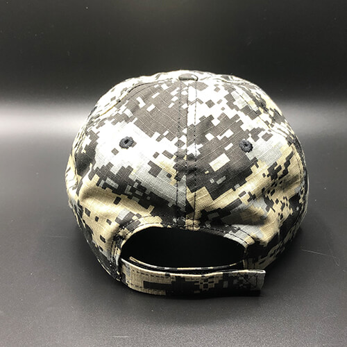 All In Flag Hat Digi Camo Black Back by Vince Miller