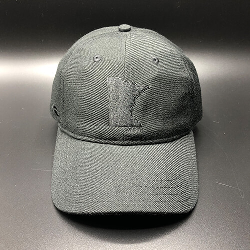All In MN Hat Black Front by Vince Miller