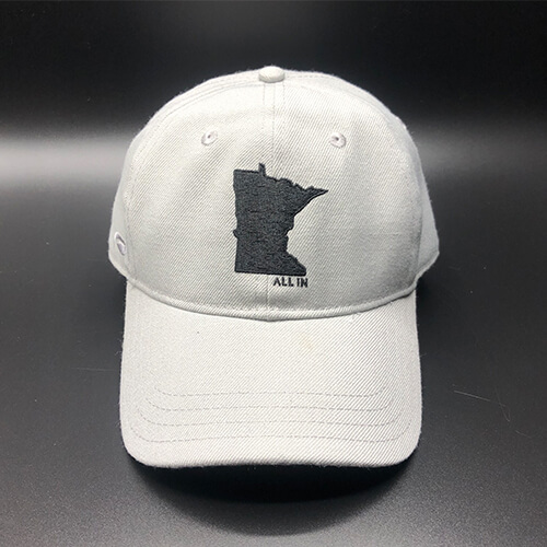 All In MN Hat Grey Front by Vince Miller