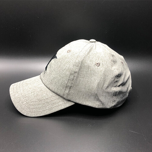 All In MN Hat Tri-Tech Grey Heather Side by Vince Miller