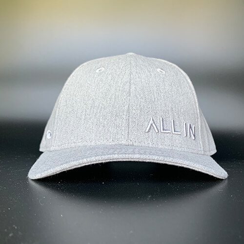 All In Skater Grey Heather Front On by Vince Miller