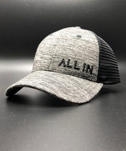 All In Trucker Mesh Black Heather Black Front Angle by Vince Miller