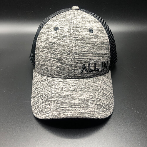 All In Trucker Mesh Black Heather by Vince Miller Front