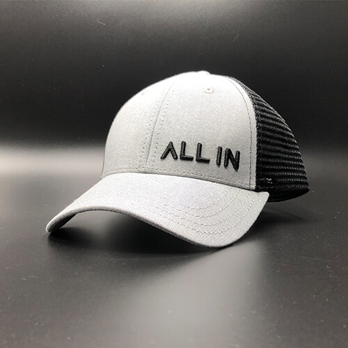 All In Trucker Mesh Grey Black Front Angle by Vince Miller