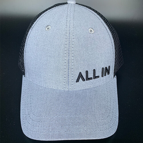 All In Trucker Mesh Grey Black by Vince Miller Front