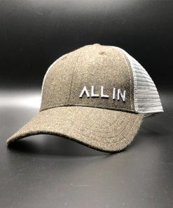 All In Trucker Mesh Moss Steel Front Angle by Vince Miller