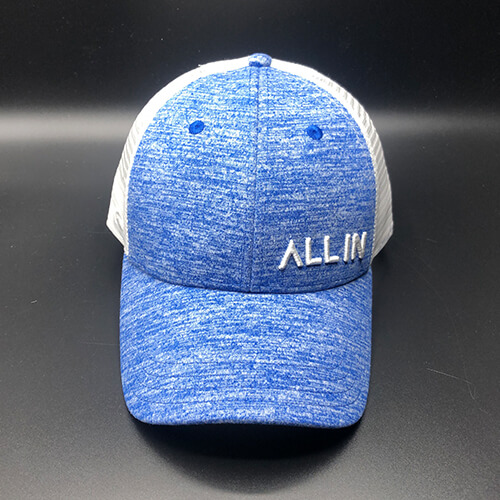 All In Trucker Mesh Navy Heather by Vince Miller Front
