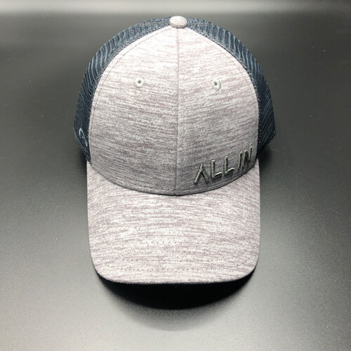 All In Trucker Mesh Steel Heather by Vince Miller Front