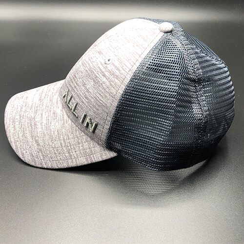 All In Trucker Mesh Steel Heather by Vince Miller Side