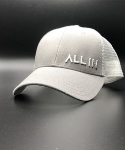 All In Trucker Mesh Steel White Front Angle by Vince Miller