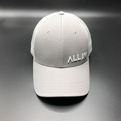 All In Trucker Mesh Steel White by Vince Miller Front