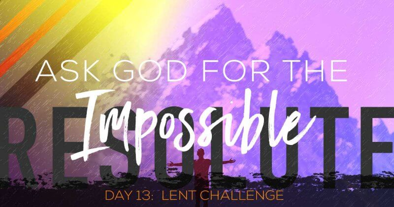 The lent challenge day 13 by Vince Miller
