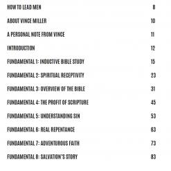 Fundamentals for Men by Vince Miller Men's Ministry