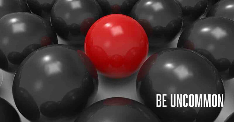 Be uncommon a daily devotional by Vince Miller speaker and author