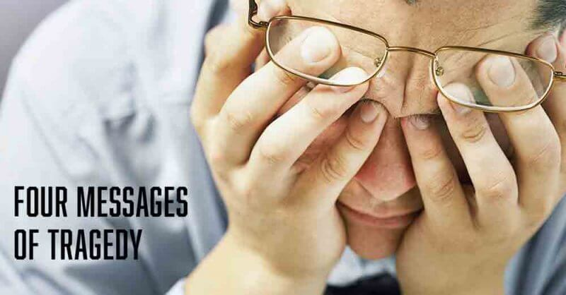 4 messages of tragedy a daily devotional by Vince Miller