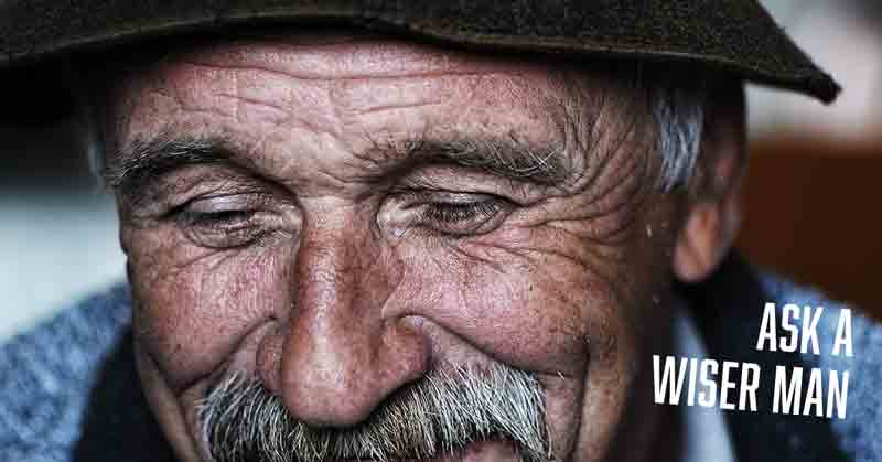 Ask an older and wiser man a free online daily devotional by Vince Miller