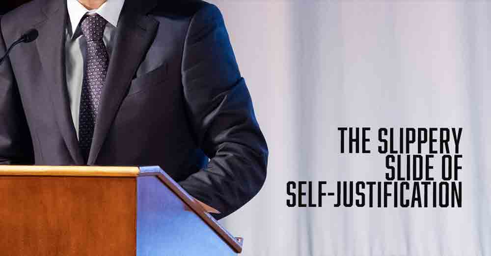 The slippery slide of self-justification a daily devotional by Vince Miller