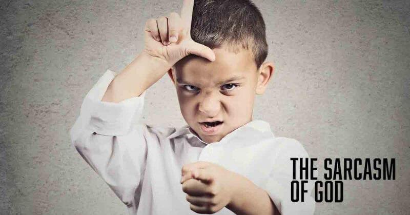 The Sarcasm of God a devotional by Vince Miller